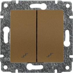 513019 Łącznik podwójny schodowy z klawiszem, bez ramki