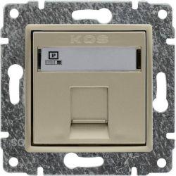 515065 Gniazdo komputerowe poj. RJ45 (wkład MOLEX),  bez ramki