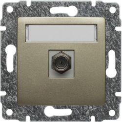 515054 Gniazdo TV SAT pojedyncze  typu F