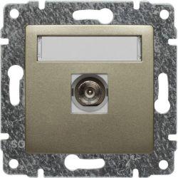 515053 Gniazdo TV pojedyncze, bez ramki