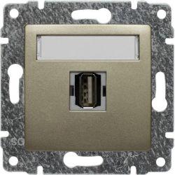 515051 Gniazdo multimedialne USB, bez ramki
