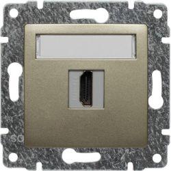 515050 Gniazdo multimedialne HDMI, bez ramki
