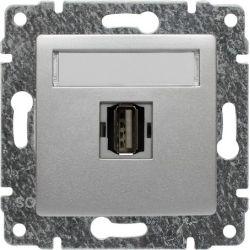514051 Gniazdo multimedialne USB, bez ramki