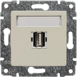 510351 Gniazdo multimedialne USB, bez ramki
