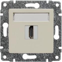 510350 Gniazdo multimedialne HDMI, bez ramki