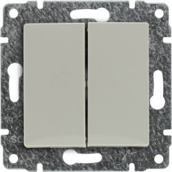 510320 Przycisk podwójny z klawiszem, bez ramki