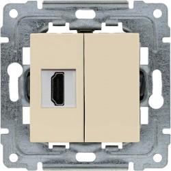 450350 Gniazdo multimedialne HDMI, bez ramki