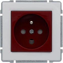 660443 Gniazdo typu DATA czerwone, z uziemieniem i kluczem uprawniającym, bez ramki