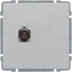 660454 Gniazdo TV SAT pojedyncze  typu F, bez ramki