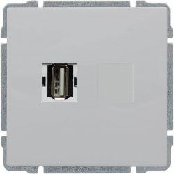660451 Gniazdo multimedialne USB, bez ramki