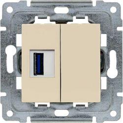 450351 Gniazdo multimedialne USB, bez ramki