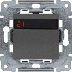 4560815 Regulator temperatury z wbudowanym czujnikiem temperatury, bez ramki