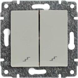 510319 Łącznik podwójny schodowy z klawiszem, bez ramki
