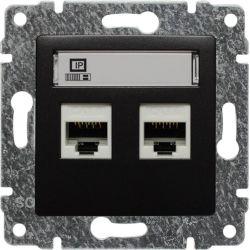 516167 Gniazdo komputerowe podwójne 2xRJ45, bez ramki