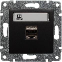 516166 Gniazdo komputerowe poj. RJ45,  bez ramki