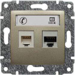 515069 Gniazdo telefoniczno-komputerowe, bez ramki