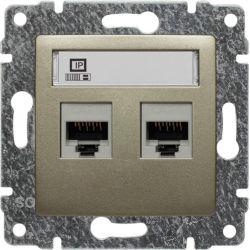 515067 Gniazdo komputerowe podwójne 2xRJ45, bez ramki