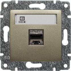 515066 Gniazdo komputerowe poj. RJ45,  bez ramki