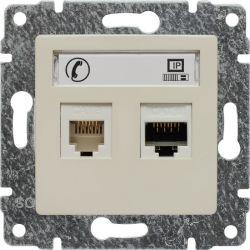 510369 Gniazdo telefoniczno-komputerowe, bez ramki