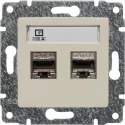 510368 Gniazdo komputerowe podwójne 2xRJ45, bez ramki