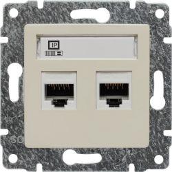 510367 Gniazdo komputerowe podwójne 2xRJ45, bez ramki