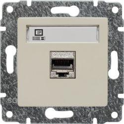510366 Gniazdo komputerowe poj. RJ45,  bez ramki