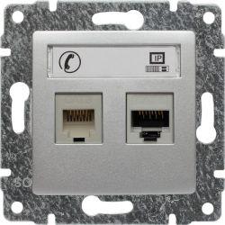 514069 Gniazdo telefoniczno-komputerowe, bez ramki