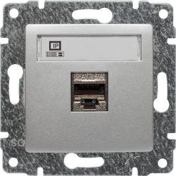 514066 Gniazdo komputerowe poj. RJ45,  bez ramki