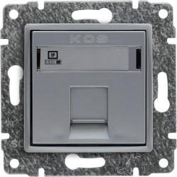 514065 Gniazdo komputerowe poj. RJ45 (wkład MOLEX),  bez ramki
