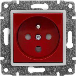 510443 Gniazdo typu Data z blokadą torów prądowych + klucz uprawniający, kolor czerwony