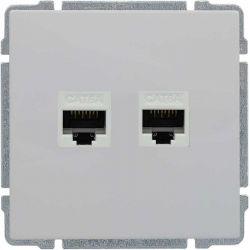 660468 Gniazdo komputerowe podwójne 2xRJ45, bez ramki,