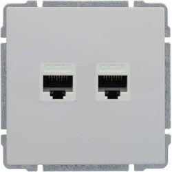 660467 Gniazdo komputerowe podwójne 2xRJ45, bez ramki,