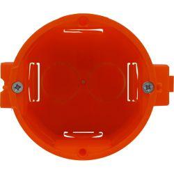 302590 Puszka p/t pojedyncza, łączeniowa - głęboka z wkrętami