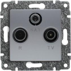 514076 Gniazdo antenowe RTV SAT końcowe, bez ramki