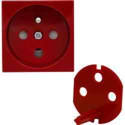 3510143 Gniazdo typu Data  z blokadą torów prądowych, kolor czerwony