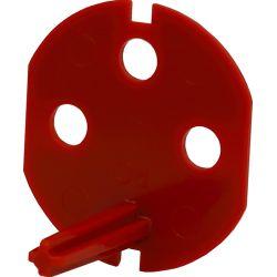 351044 Klucz uprawniający do gniazd typu Data z taśmą samoprzylepną, kolor czerwony
