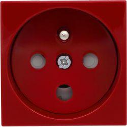 351043 Gniazdo typu Data z blokadą torów prądowych + klucz uprawniający, kolor czerwony