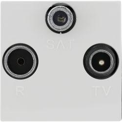 350477 Gniazdo antenowe RTV SAT przelotowe