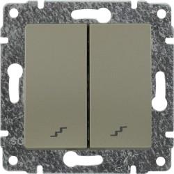 515019 Łącznik podwójny schodowy z klawiszem, bez ramki