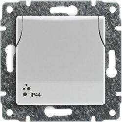 5104039 Pokrywa Gniazdo bryzgoszczelne poj. z uziemieniem z przesłoną torów prądowych, bez ramki