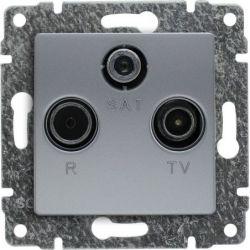5140076 Pokrywa Gniazdo antenowe RTV SAT końcowe, bez ramki