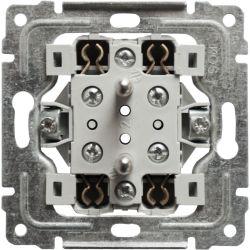 911247 Mechanizm Gniazdo podwójne z uziemieniem i przesłoną torów prądowych, bez ramki