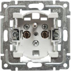 911234 Mechanizm Gniazdo poj. Z uziemieniem, z przesłoną torów prądowych, bez ramki