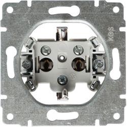 911241 Mechanizm Gniazdo poj. Schuko z przesłoną torów prądowych, bez ramki