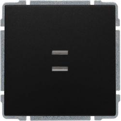 620911 Łącznik pojedynczy podświetlany z klawiszem, bez ramki,