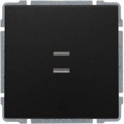 """620913 Przycisk """"światło"""" podświetlany z klawiszem, bez ramki,"""
