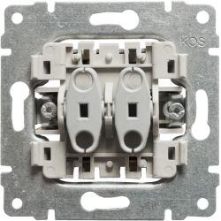 911212 Mechanizm łącznik podwójny (oddzielne tory prądowe), bez ramki