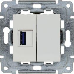 450455 Ładowarka USB 3.0 pojedyncza 5V 2A, bez ramki