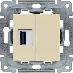 450355 Ładowarka USB 3.0 pojedyncza 5V 2A, bez ramki