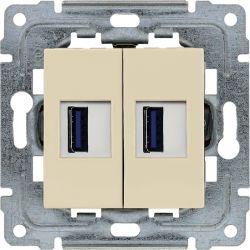 450357 Ładowarka USB 3.0 podwójna 5V 2A, bez ramki